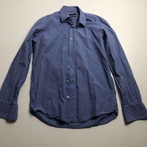 Hugo Boss Dress Shirt Regular Fit Striped Blue